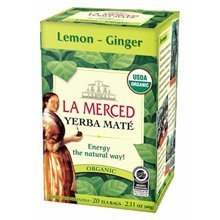 картинка Мате La Merced Lemon-Ginger Organic 20 Tea Bags  от DonMate.ru